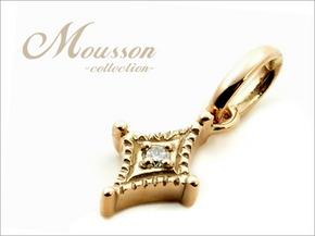Mousson -ムッソン- K10YG PPTDI ペンダントトップ ダイヤモンド ダイヤ柄モチーフ A12101100004A